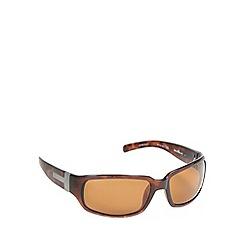 Bloc - Brown tortoiseshell plastic frame wrap sunglasses