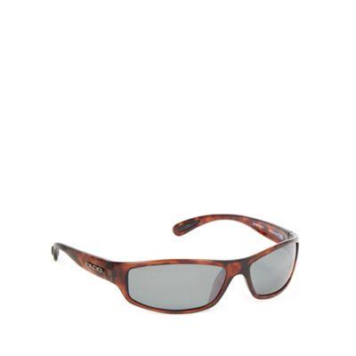 Bloc Light brown tortoiseshell plastic frame wrap sunglasses - . -