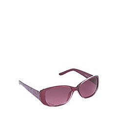 Gionni - Purple animal print rectangle sunglasses