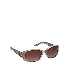 Gionni - Brown animal print rectangle sunglasses