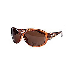 Gionni - Brown medium plastic ribbon arm detail sunglasses