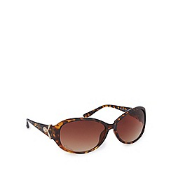 Gionni - Light brown diamante tortoiseshell oval sunglasses