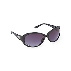 Gionni - Black diamante oval sunglasses