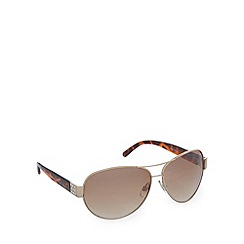 Gionni - Light brown diamante aviator sunglasses