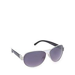 Gionni - Black diamante aviator sunglasses