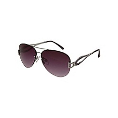 Gionni - Purple aviator diamante lens sunglasses