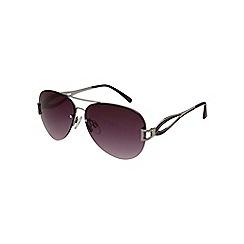 Gionni - Purple aviator diamante lens sunglasses