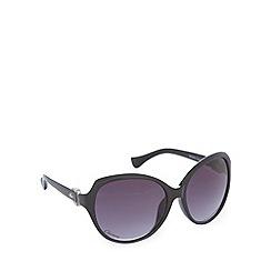Gionni - Black logo round sunglasses