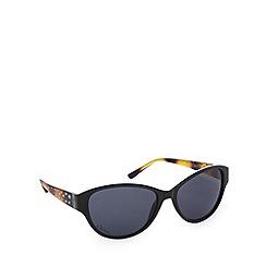 Gionni - Light brown diamante oval sunglasses