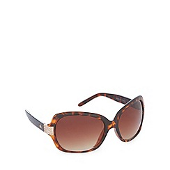 Gionni - Light brown diamante tortoiseshell square sunglasses