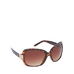 Gionni - Light brown diamante tortoiseshell square sunglasses