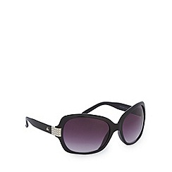Gionni - Black diamante square sunglasses