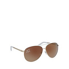 Gionni - White diamante aviator sunglasses