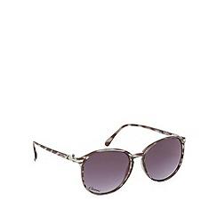 Gionni - Black tortoiseshell round sunglasses