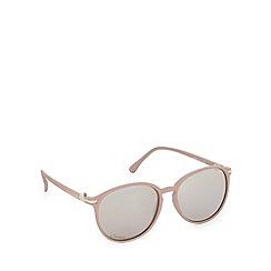 Gionni - Beige plastic matte round sunglasses