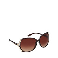 Gionni - Brown oversized diamante oval sunglasses