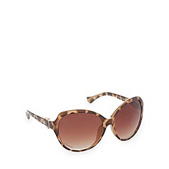 Gionni - Light brown tortoiseshell round sunglasses