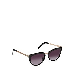 Jeepers Peepers - Black metal arm cat eye sunglasses