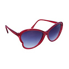 Jeepers Peepers - Retro red lily butterfly shaped sunglasses