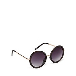 Jeepers Peepers - Dark brown large round sunglasses