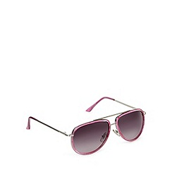 Jeepers Peepers - Pink plastic aviator sunglasses
