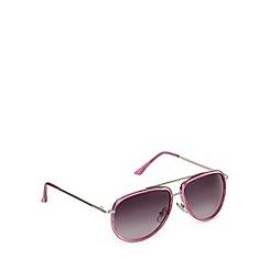 Jeepers Peepers - Pink plastic aviator sunglasses