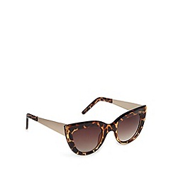 Jeepers Peepers - Brown tortoiseshell cat eye sunglasses