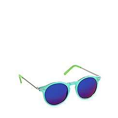 Jeepers Peepers - Green patent round sunglasses