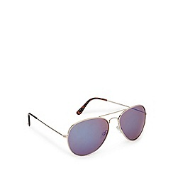 Red Herring - Gold trim flash mirror aviator sunglasses