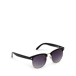 Red Herring - Black semi-rimless oval sunglasses