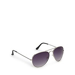 Red Herring - Silver metal aviator sunglasses