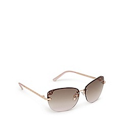 Beach Collection - Gold oval rimless sunglasses