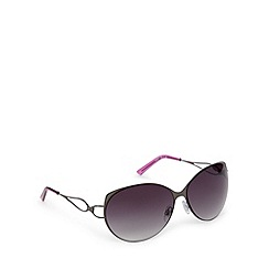 Beach Collection - Black metal cat eye sunglasses