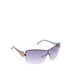 Beach Collection - Pink semi-rimless visor sunglasses