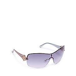 Beach Collection - Pink semi-rimless visor sunglasses