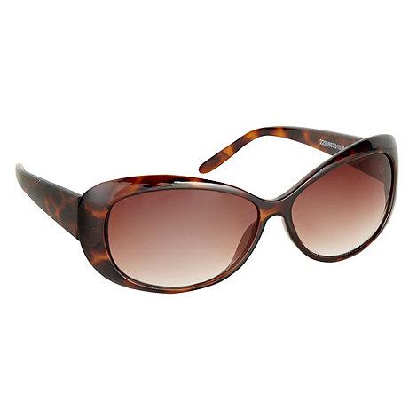 Beach Collection - Brown standard plastic sunglasses