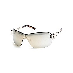 Guess - Gold diamante visor sunglasses