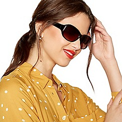 Beach Collection - Brown oval sunglasses
