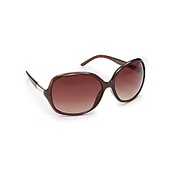 Beach Collection - Brown oversized D-frame sunglasses