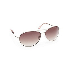 Beach Collection - Gold aviator sunglasses