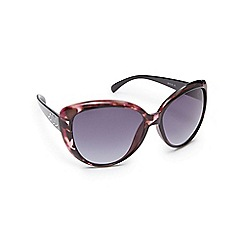 Beach Collection - Purple tortoise shell oversized cat eye sunglasses