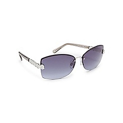 Beach Collection - Silver rimless sunglasses