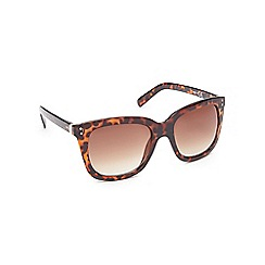 Red Herring - Light brown tortoise shell oversizes D-frame sunglasses