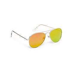 Red Herring - Gold aviator sunglasses