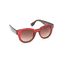 Red Herring - Red round cat eye glasses