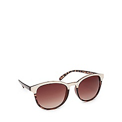 Red Herring - Light brown metal rim round sunglasses
