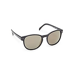 Red Herring - Black plastic round sunglasses
