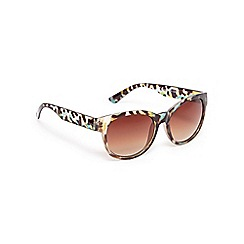 Red Herring - Green leopard print wayfarer sunglasses