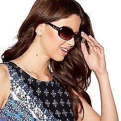Mantaray - Light brown tortoise shell D-frame wrap sunglasses
