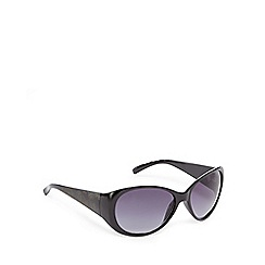 Mantaray - Black floral oversized sunglasses